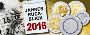 Das war 2016 – der Jahresrückblick Münzen – das waren die numismatischen Highlights des Jahres 2016