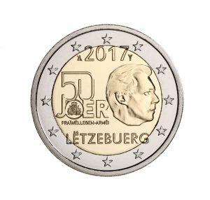 Luxemburg 2 Euro-Gedenkmünze 2017 - 50 Jahre freiwilliger Wehrdienst in Luxemburg