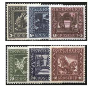 Die Nibelungensage 1926 - Mi.Nr. 488/93 (erschienene Ausgabe vom 8. März 1926, an der Wilhelm Dachauer mitwirkte)