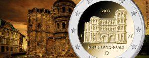 """BRD 2 Euro-Gedenkmünze 2017 """"Serie Bundesländer – Rheinland-Pfalz: Porta Nigra"""""""