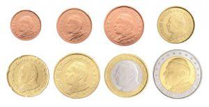 "Euro-Kursmünzen des Vatikan 1 Cent bis 2 Euro mit Motiv ""Papst Johannes Paul II."""