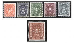 Werte aus der Freimarkenserie von 1922/24 – Mi.Nr. 398/408 A