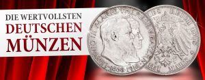 Die wertvollsten deutschen Münzen: Bayern 3 Mark 1918 Goldene Hochzeit