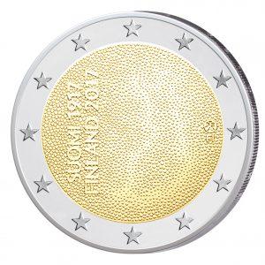 """Finnland 2 Euro Gedenkmünze 2017 """"100 Jahre Unabhängigkeit Finnlands"""""""