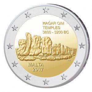 Malta 2 Euro-Gedenkmünze 2017 - Tempel von Hagar Qim