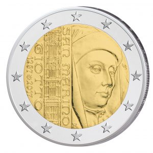 """San Marino 2 Euro-Gedenkmünze 2017 """"750. Jahrestag der Geburt von Giotto"""""""