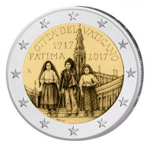 """Vatikan 2 Euro-Gedenkmünze 2017 """"100 Jahre der Erscheinungen von Fátima"""""""