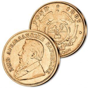 Goldmünze Südafrikanische Republik 1/2 Pond 1892-1900, 916er Gold, 3,56g