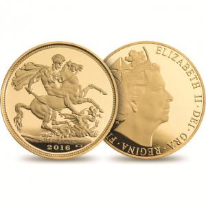 Großbritannien, Sovereign 2016, 916,6er Gold, 7,98g, Ø 22,05mm