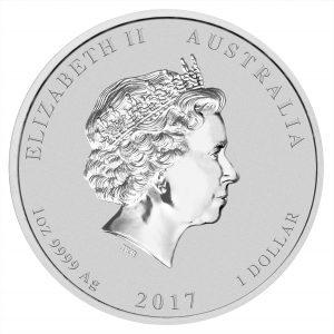 Australien 1 Dollar 2017 Jahr des Hahns, 999er Silber, 1 Unze, Ø 45,60mm