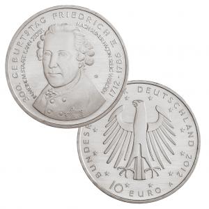 BRD 10 Euro 2012 300. Geburtstag Friedrich der Große, st, Jaeger-Nr. 569