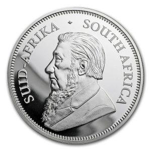 Der erste Silber-Krügerrand, Erstausgabe im Jubiläumsjahr