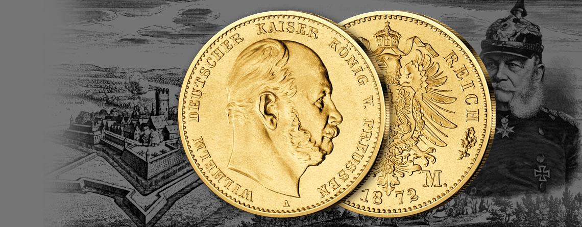 Deutschlands Goldmünzen: Des Kaisers prägefrisches Gold aus dem Reichskriegsschatz