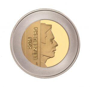 """Luxemburg 5 Euro 2016 """"Kornblume"""", 925er Silber / Kupfer / Nordisches Gold, 16,6g, Ø 34mm, Auflage: 3.000"""