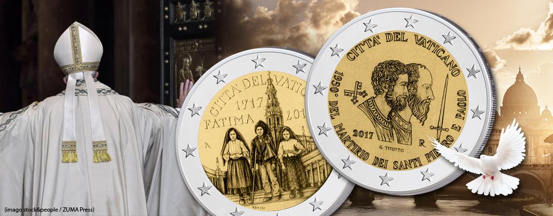 Vatikan 2 Euro Gedenkmünzen 2017 Themen Motive Informationen