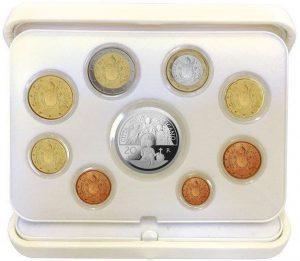 Vatikan offizieller Kursmünzensatz 2017 Polierte Platte mit 20 Euro-Silbermünze (Motiv: die Erzengel Gabriel, Raphael und Michael)