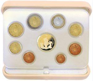 Vatikan offizieller Kursmünzensatz 2017 Polierte Platte mit 50 Euro-Goldmünze, Auflage: 1.500