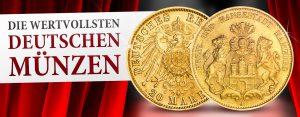 Die wertvollsten deutschen Münzen: Hamburg 20 Mark 1908 Jaeger-Nr. 212