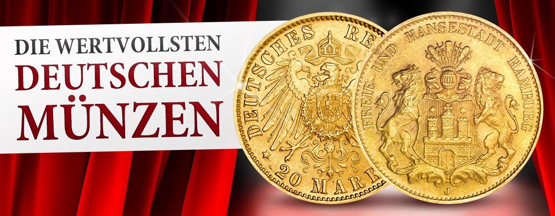 Die Wertvollsten Deutschen Münzen Hamburg 20 Mark 1908 Jaeger Nr