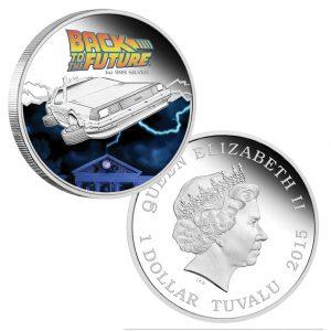 """Für Fans von """"Zurück in die Zukunft"""" – Tuvalu 1$ 2015, 999er Silber, 31,1g, Ø 40,60mm, PP"""