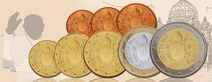 Vatikan Euromünzen: Papst verzichtet auf sein Abbild. Neue Münzmotive für Vatikan 1 Cent bis 2 Euro 2017