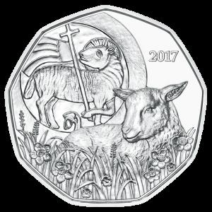 Österreich 5Euro 2017 Das Osterlamm in Silber