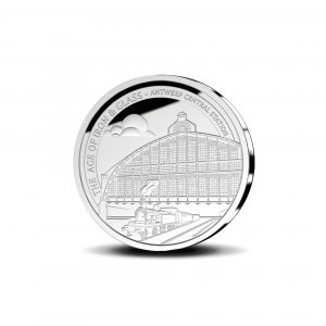 """Belgien 10 Euro 2017 """"Zentralbahnhof Antwerpen"""", 925er Gold, 18,75g, Ø 33mm, im Etui mit Zertifikat, Auflage: 5.000"""