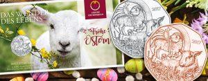 Das Osterlamm – Österreich 5 Euro 2017 in Silber und Kupfer. Neue Münz-Bestseller mit christlicher Symbolik
