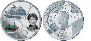 Spanien 10 Euro 2017, 925er Silber, 27g, Ø 40mm, PP, Auflage: 7.500