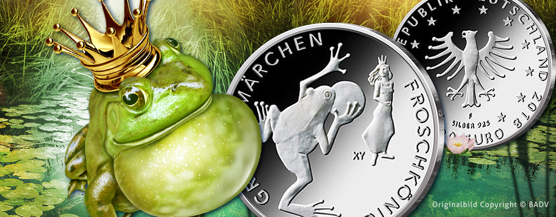 Ist der Frosch eine Ente? BRD Münz-Serie Grimms Märchen - Der Froschkönig