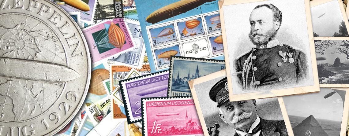 Graf Zeppelin: Zum 100. Todestag des Vaters der Luftschifffahrt - Zeppelin als Sammelthema