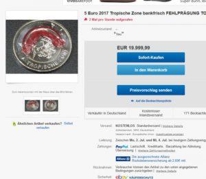 Brd 5 Euro Münze 2017 Tropische Zone Roter Polymerring Primus