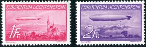 Liechtenstein Mi.Nr. 149/150 postfrisch, Flugpostmarken, Michelwert: Euro 220,-