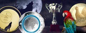 And the winner is… Münzen des Jahres. Von einem heulenden Wolf bis Polymer. Preiswürdige Münzen und Innovationen