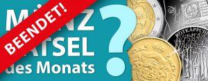 Münz-Rätsel des Monats – Miträtseln, Goldmünze gewinnen