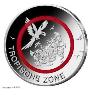 Motivseite der Münze BRD 5 Euro 2017 Tropische Zone, Copyright BADV, Entwurf. Stefanie Radtke, Fotografie: H. J. Wuthenow
