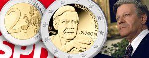 "BRD 2 Euro Gedenkmünze 2018 ""100. Geburtstag Helmut Schmidt"""