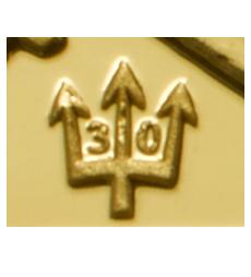 Privy Mark zum 30jährigen Jubiläum der Gold Britannia