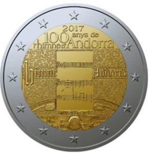 """Andorra 2 Euro-Gedenkmünze 2017 """"100 Jahre Hymne Andorras"""""""