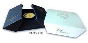 Offizielle Münzbox der BRD 50 Euro 2017 Lutherrose