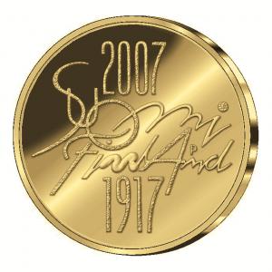 Finnland 100 Euro 2007 »90. Jahrestag Unabhängigkeit«, 917er Gold, 8,5g, Ø 22mm, PP, Auflage: 9.000