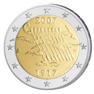 """Finnland 2 Euro-Gedenkmünze 2007 """"90 Jahre Unabhängigkeit"""""""