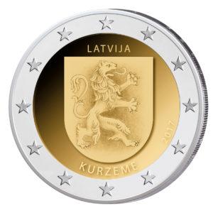 """Lettland 2 Euro-Gedenkmünze 2017 """"Kurzeme - Kurland"""""""
