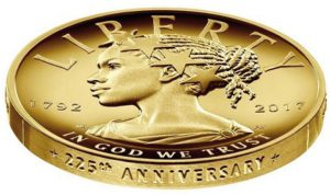 "USA 100 Dollars 2017 ""Black Liberty"" 1 Unze reines Gold in High Relief"