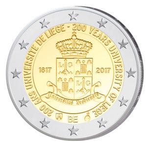 """Belgien 2 Euro-Gedenkmünze 2017 """"200. Jahrestag Gründung der Universität Lüttich"""""""