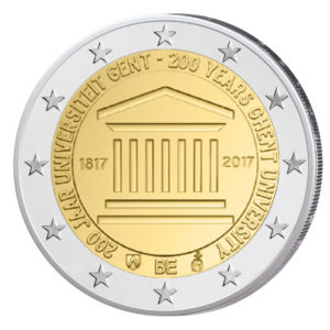 """Belgien 2 Euro-Gedenkmünze 2017 """"200 Jahre Universität Gent"""""""