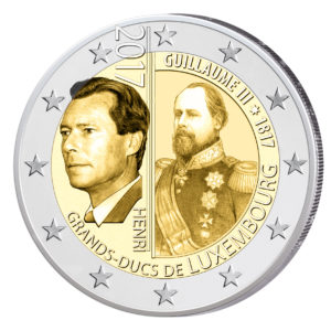 Luxemburg 2 Euro-Gedenkmünze 2017 – 200. Geburtstag von William III. (Guillaume III)