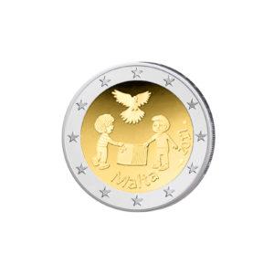 """Malta 2 Euro-Gedenkmünze 2017 """"Von Kindern mit Solidarität: Frieden"""""""