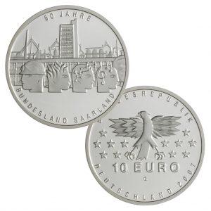 BRD 10 Euro 2007 50 Jahre Bundesland Saarland