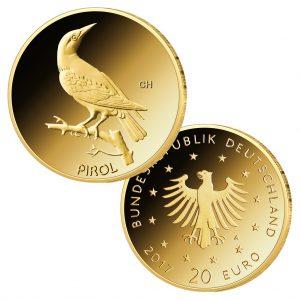 """BRD 20 Euro Gold 2017 """"Heimische Vögel – der Pirol"""""""